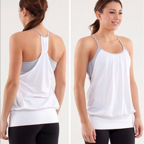 522ba5ef37 lululemon athletica Tops | Lululemon Wee Stripe No Limits White Tank ...